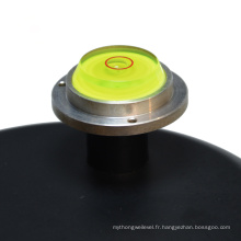 Mini niveau de bulle circulaire avec base en métal