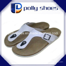 Frauen-Komfort-Sandelholz-Zapfen-Flipflop-Pantoffel-flache Strand-Sandalen