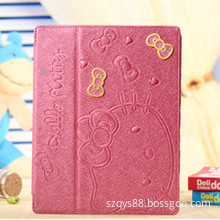High quality Attractive Case for ipad mini with stand Hello Kitty Print Smart Cover
