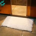 20x32 inch White Non-Slip Microfiber Shag Bathroom Rug Bath Mat