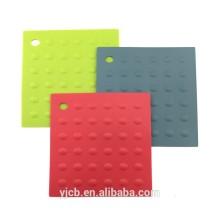 Квадратные силиконовые настольные термостойкие матовые подставки