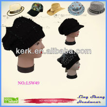Girls fashion wool ladies black Cheap Cap ,LSW49