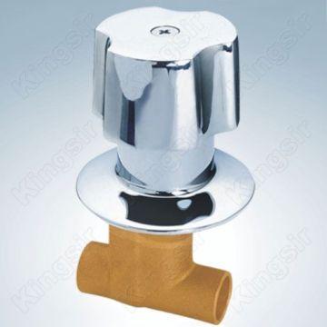 Valve de douche en laiton avec Zinc bride et bouton souder les extrémités