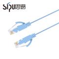 El cable de alta calidad de SIPU colorea el cable plano del cordón de remiendo del pvc cat6