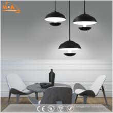 Lâmpada de pendente moderna do diodo emissor de luz do preto branco para a iluminação interna