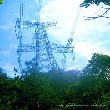 500 Kv Circuitos de un solo circuito Hierro Transmisión de potencia Torre de acero