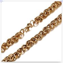 Moda jóias colar moda corrente de aço inoxidável (sh044)