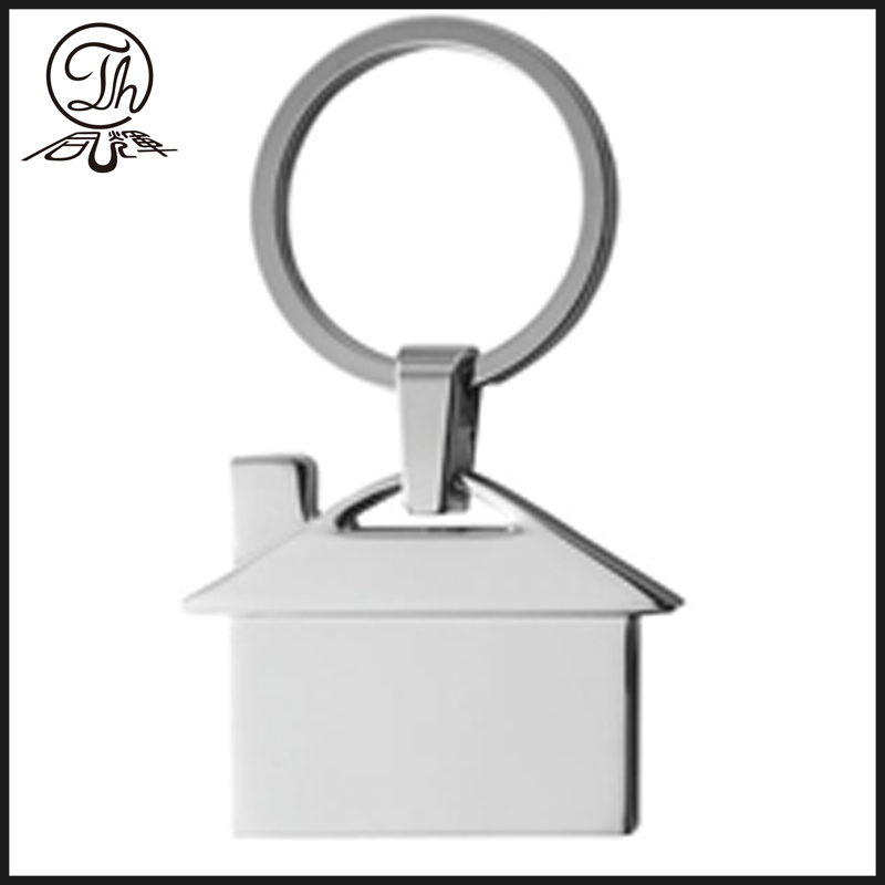 House shape keyring for blank logo