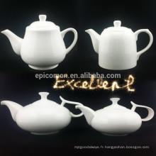 Fine nouvelle théière en ossature thé ou café série pot de thé et ensemble de couverture