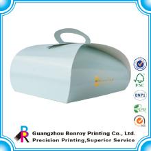 China Lieferant Custom Food Grade Logo Folie Papier Verpackung Kuchen Box