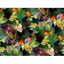 100% нейлон цветок печатных вязать текстильной ткани (ASQ095)