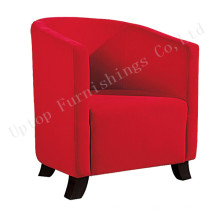 High Density Foam Red Fabric Tub Chair (SP-HC517)