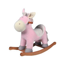 Fábrica de suministro Rocking Horse Toy-Burro Rocker (Rosa)