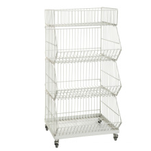 Folding Metal Steel Stacking Wire Warehouse Storage Cage (YD-P002)