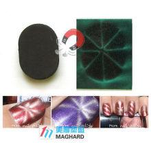 Rectangle arrondi à ongle oblique à ongle magnétique