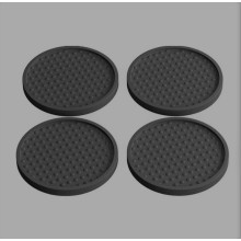 Custom Soft Rubber Soft PVC Coaster Round