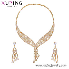 64629 Xuping Fashion China Jewelry Supplier 18K Charming CZ Gold Jewelry Set 2017 best selling products