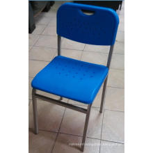 Plastic Leisure Chair with Metal Frame