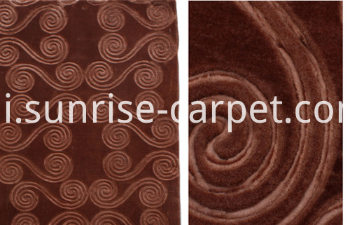 embossing design carpet