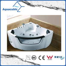 Corner White Whirlpool Massage Bathtub (AB0840)