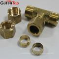 GutenTop latón de alta calidad de latón de compresión que equipa la camiseta para pex al pex pipe