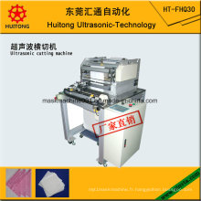 Machine de coupe transversale de tissu d'essuyage ultrasonique