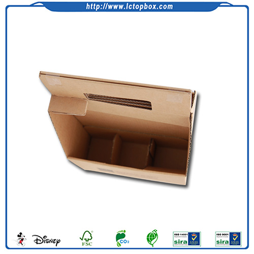Custom brown packing handle boxes