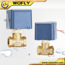 brass electric ball actuator valve 220v/110v/24v/12v