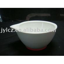 Tazón de cerámica alta y maja
