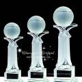 Prix bas garanti qualité cristal prix récompenses balle trophée en gros
