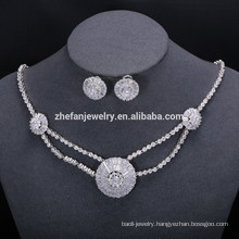 CZ Diamond sets designs elegant Costume jewelry set for women