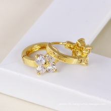 Xuping 14k Gold Plated Elegant Zircon Earring (23762)