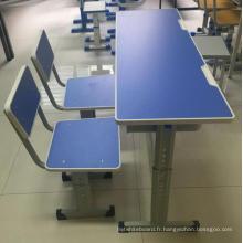 Bureau à hauteur variable réglable en hauteur et chaise pour école
