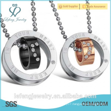 Elegant jewelry fashionable stainless steel promise necklaces for couples best couple necklaces