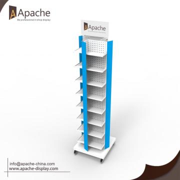 Free-Standing Rotatable Tool Display Stand With Wheels