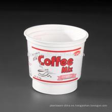 Tazas desechables plásticas blancas del batido de leche de la categoría alimenticia del precio de fábrica 7oz / 210ml