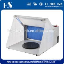 2015 haosheng nouvelle cabine de pulvérisation portative aérographe avec lumière