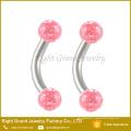 Bijoux de piercing pour le corps anneau incurvé en cristal de barbell de sourcil