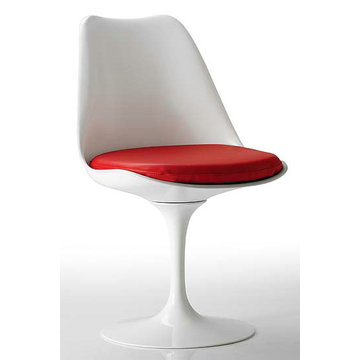 Tulip Armless Chair Fiberglass Dining-stoel