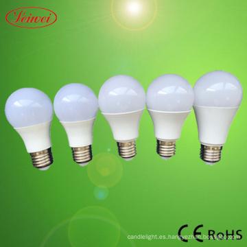A55 A60 5W 7W 9W 10W 12W 15W bombilla LED de luz