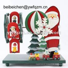 caixa de música de Natal Papai Noel