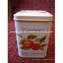 Bougie parfumée décorative de soja de Noël dans la belle étain