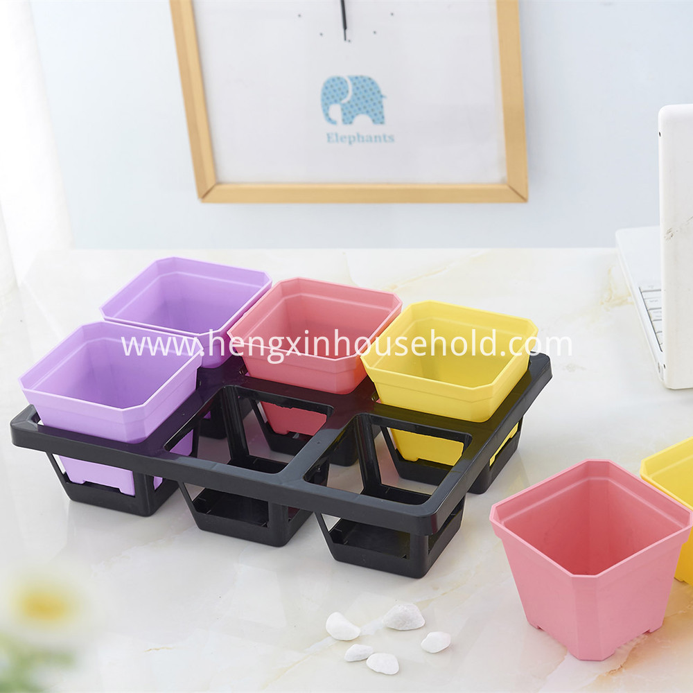 Square Plant Pot Set