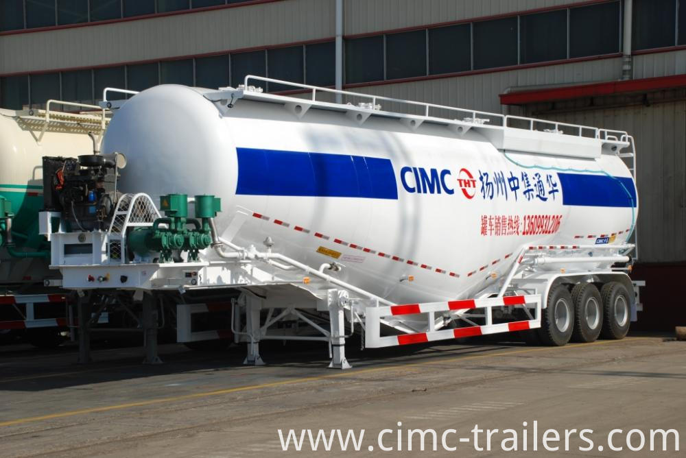 Lf Tri Axle Cement Bulk Tank Semi Trailer