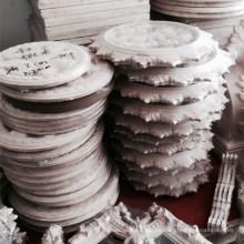 Decoraciones romanas talladas en madera