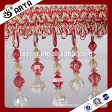 2016 Great sales products Handcraft for Home Decoration and Curtain Accessories of Decorative Crystal Handmade Beads Fringe