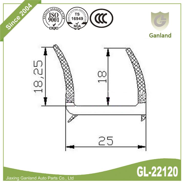 PVC Weather Strip GL-22120