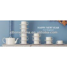 white body creamy white body hign quality microwavable fine bone china porcelain ceramic tea coffee set gift