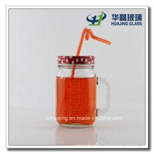 500ml 16oz Round Engraved Mason Glass Jar with Handle