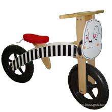 Bicicleta de dos ruedas de equilibrio de madera para niños